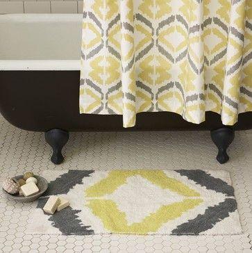 Tali Bath Mat & Curtain - contemporary - bath mats - West Elm