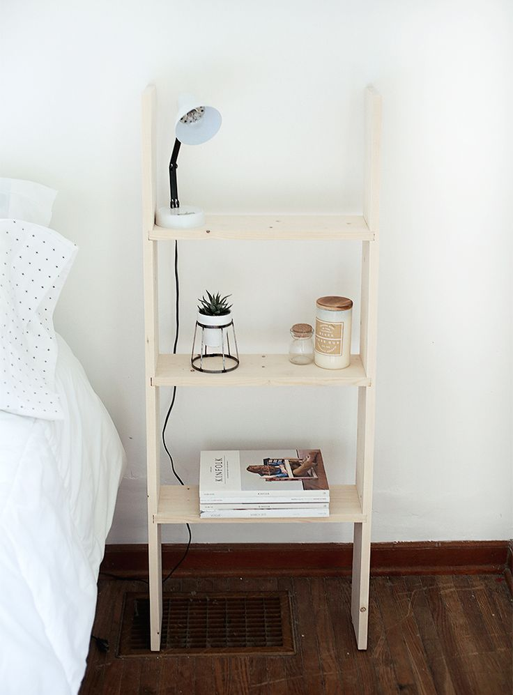 DIY Ladder Shelf @themerrythought