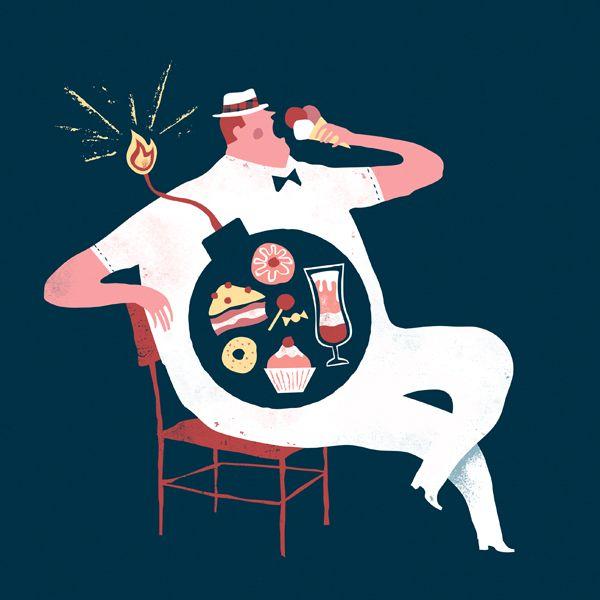 Spanish illustrator Iker Ayestaran creates carefully, thought-out editorial illustrations