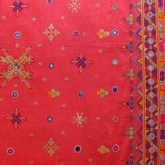 Lotus Goddess - Traditional wedding shawl from Sindh in Pakistan