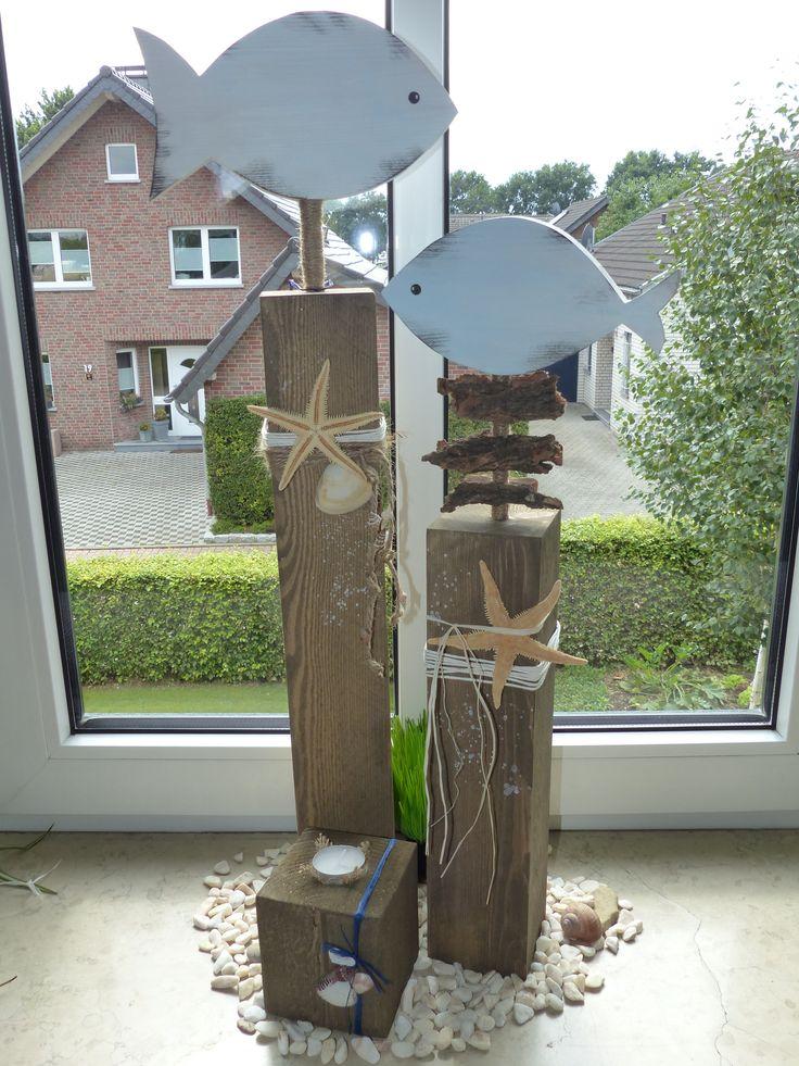 Triologie Maritime dekorative Holzpfosten