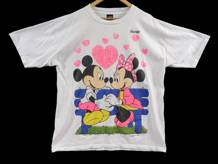 VTG Mickey and Minnie Florida T-Shirt - XXL - Disney - Disneyworld - Disneyland - Cartoon Shirt - Vintage Tee - Vintage Clothing - by BLACKMAGIKA on Etsy