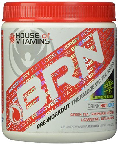 House of Vitamins BRN Pre Workout Thermogenic Fat Burner Lemon Lime 270 Gram * Click image to review more details.