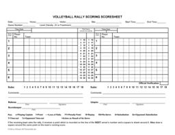 Image result for volleyball score sheet