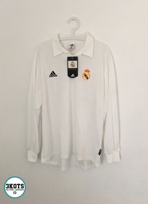REAL MADRID Centenary 2001/02 Home Football Shirt L Soccer ...