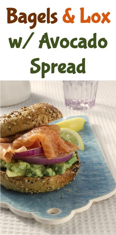 Bagels and Lox with Avocado Spread Recipe! ~ at TheFrugalGirls.com #sandwich #recipes #thefrugalgirls