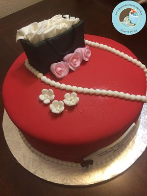 Sweets by Flor Red Fondant Cake