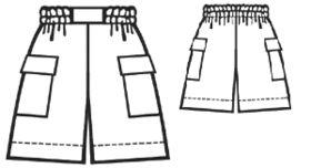 Beispiel - # 5149 Shorts mit aufgesetzten Taschen