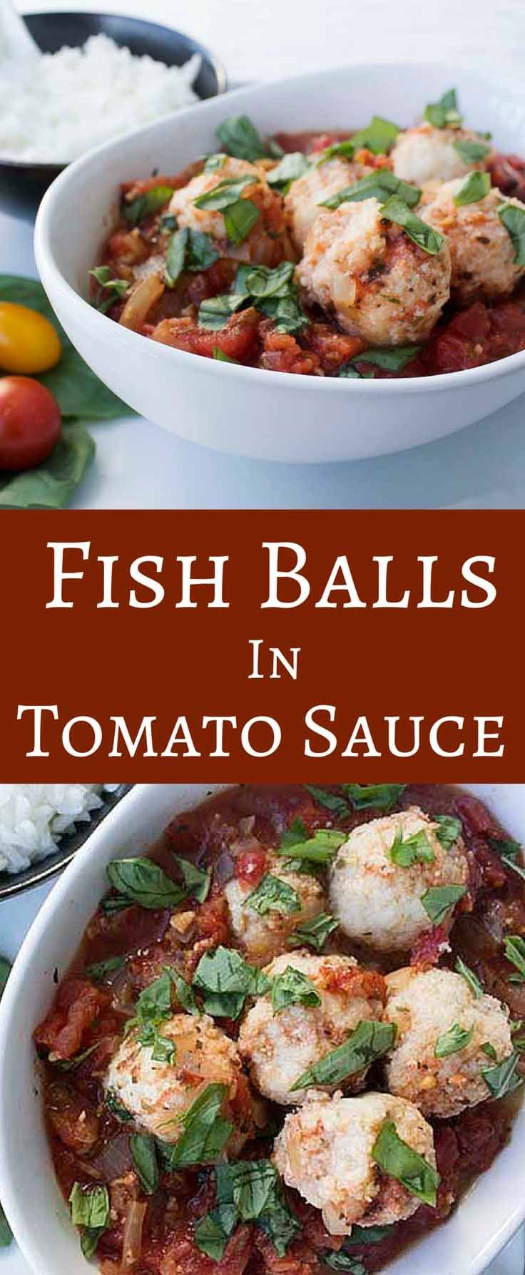 Fish balls in tomato sauce this is an easy healthy and for Healthy sauces for fish