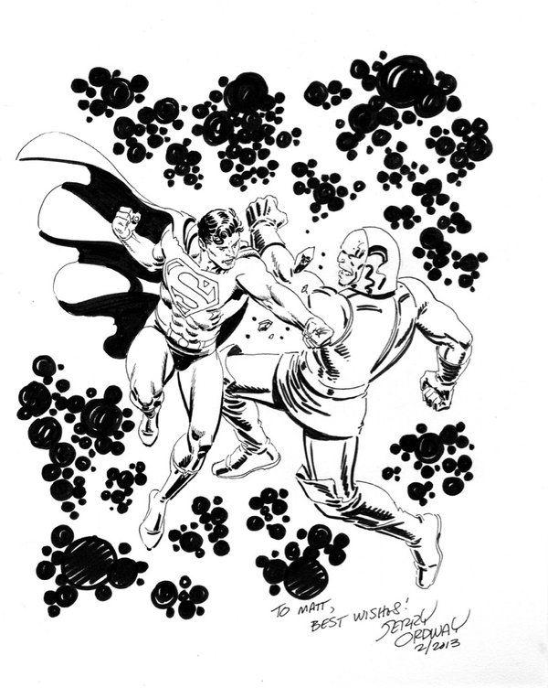 Superman vs Darkseid Art by Jerry Ordway