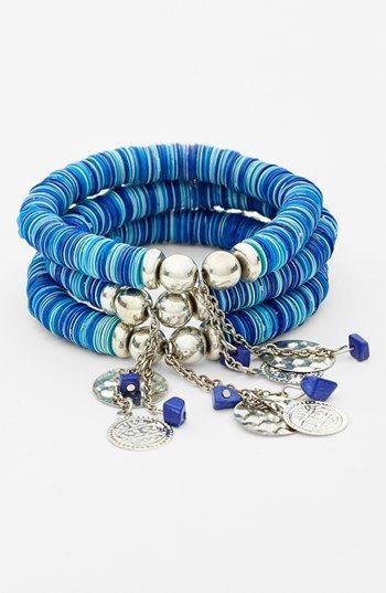 Spring Street Sequin Stretch Bracelet (Set of 3) | Nordstrom