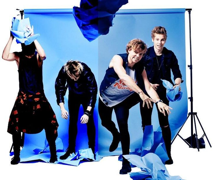 5SOS in the July 2014 issue of 'Rock Sound' Magazine