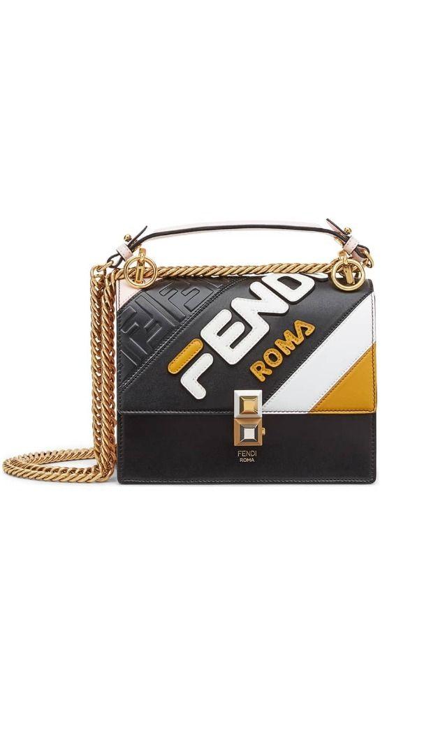 4124f9940873 FENDI x FILA Small Kan I Mania Logo Shoulder Bag This sporty twist on  Fendi's coveted