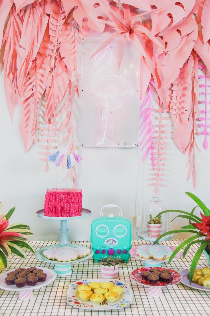 blog do math flamingo vaporwave party diy brasilia