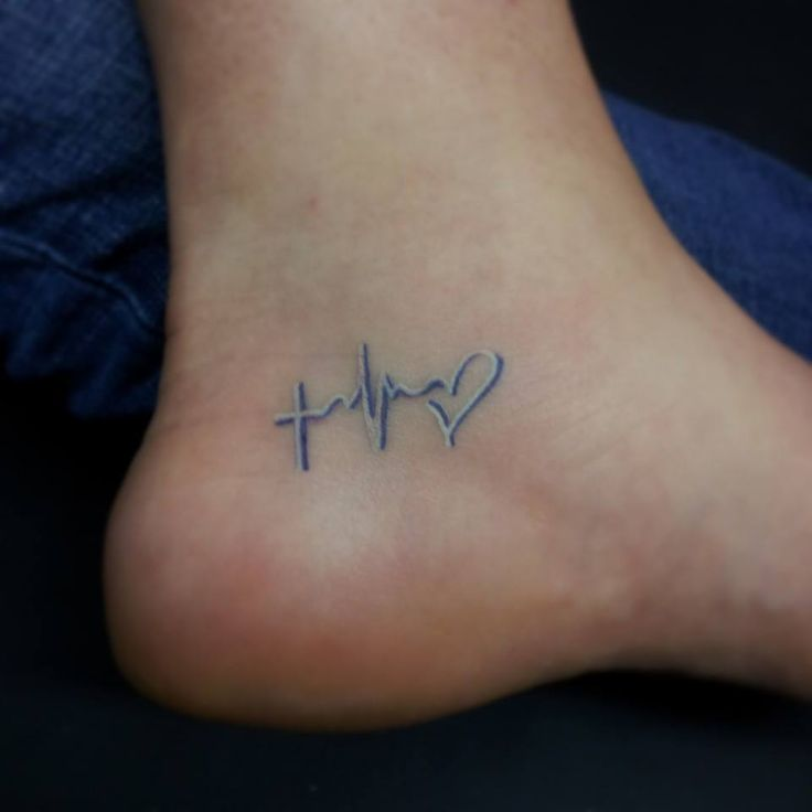 Faith Love And Hope Bracelet Tattoo On Ankle: 25+ Best Ideas About Heartbeat Tattoos On Pinterest