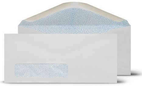 Self Seal Double Window Envelopes Get a custom business envelop with your name and logo. We provide all shape and sizes.
