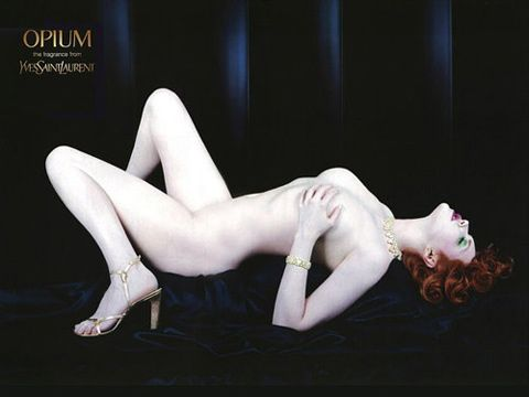 """""""An Yves Saint Laurent ad for Opium perfume featuring a voluptuous and naked Sophie Dahl is the eight most complained about advert in the last 50 years, according to the Advertising Standards Authority"""" and that means I'll share it :-)"""