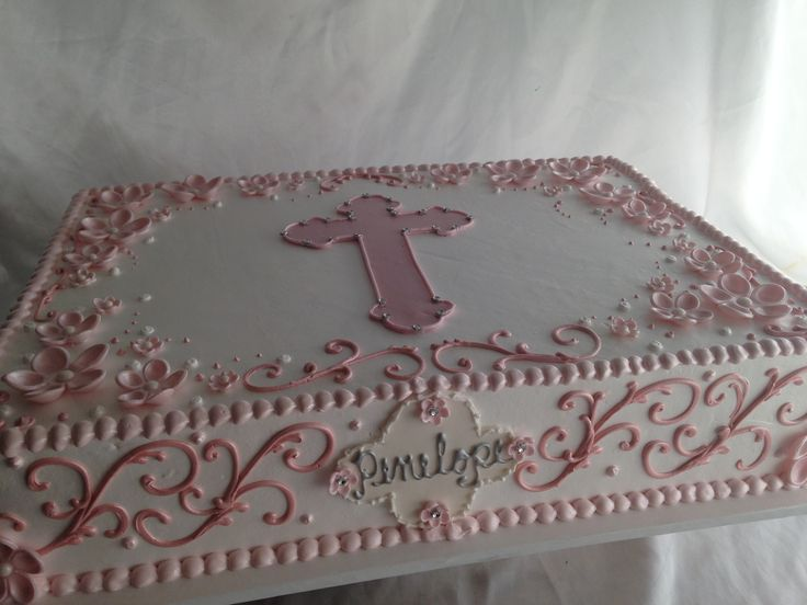 Hand piped sheet cake