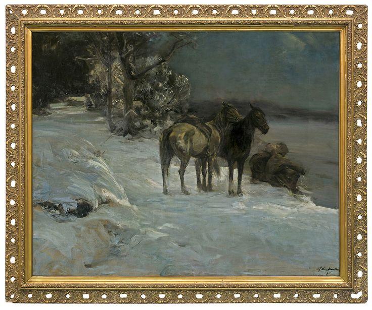 Alferd Wierusz-Kowalski: Odpoczynek Kozaków, ok.1910 r., olej, płótno, 79 x 100 cm