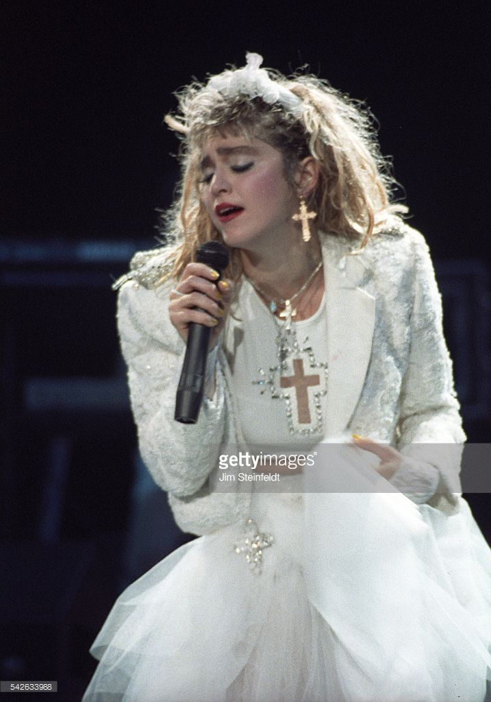 Madonna performs on The Virgin Tour at the St. Paul Civic Center in St. Paul, Minnesota on May 21, 1985.