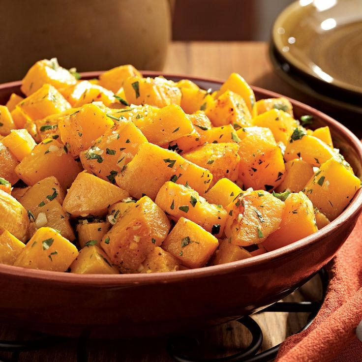 Winter squash becomes tender and sweeter when roasted—a delicious side for a holiday dinner.