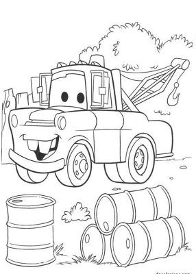 dibujo de cars para colorear postear