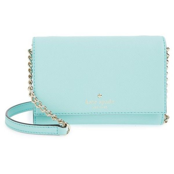 Women's Kate Spade New York 'Cedar Street - Cami' Crossbody Bag (470 BRL) ❤ liked on Polyvore featuring bags, handbags, shoulder bags, purses, clutches, atoll blue, leather crossbody, kate spade purses, kate spade shoulder bag and shoulder handbags