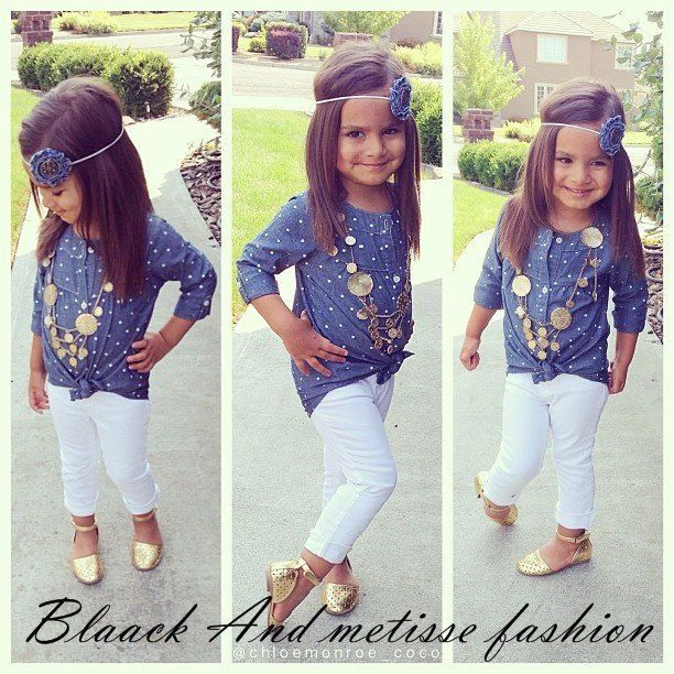 Girls fashion/ kids fashion...would be cute with a little white skirt!!