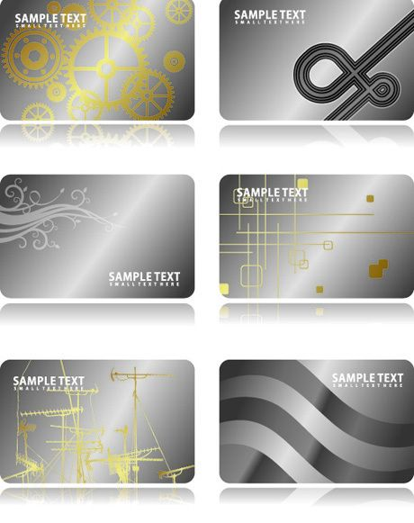 Metal business card template