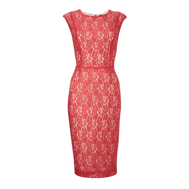 fun, red lace in a classic cut: French Connection, Nice Dresses, Red Lace, Clothing, Angela Lace, Connection Angela, Pink Houses, Dresses Pink, Lace Dresses