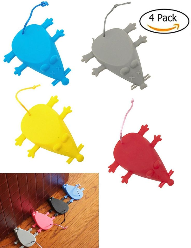Universal Silicone Door Stopper Finger Protector-Premium Cute Colorful Cartoon Mouse Style- Flexible Silicone Door Stops set with Pull Rope for Home Garden Office (Multiple colors) *** Visit the image link more details. (This is an affiliate link and I receive a commission for the sales)
