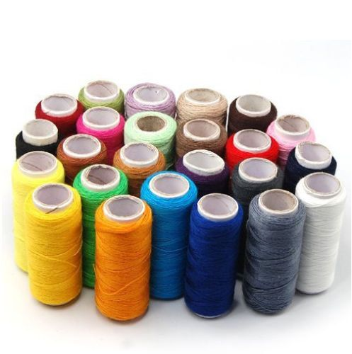 24 Pack Assorted 200 yard Spool Polyester by jenuinecraftsandmore