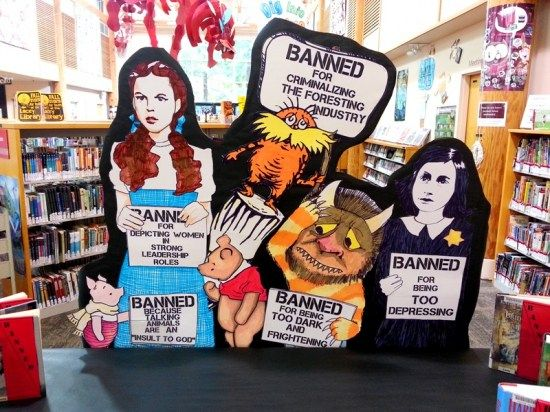Banned Books Library Display at Lacey Timberland Library by Rachel Moani