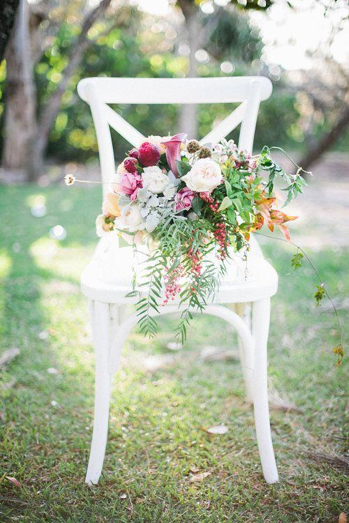 White Hampton Cross-back chair Chairs | Lovebird Weddings