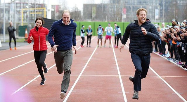 Our Monday spirit is the same as The Royal family. #PrinceWilliam #PrinceHarry and #DuchessKate are race each other while visiting runners training for London Marathon in support of their charity Heads Together.  Getty Images #TheRoyalfamily #marieclaire #marieclaireindonesia  via MARIE CLAIRE INDONESIA MAGAZINE OFFICIAL INSTAGRAM - Celebrity  Fashion  Haute Couture  Advertising  Culture  Beauty  Editorial Photography  Magazine Covers  Supermodels  Runway Models