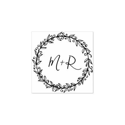 Make Your Own Custom Calligraphy Wedding Initials Rubber Stamp - calligraphy gifts unique style cyo customize