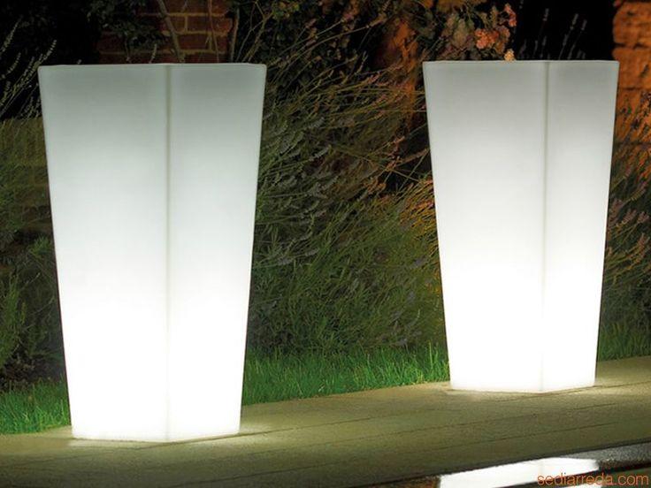 Mimosa Light | Fioriera per giardino con luce integrata