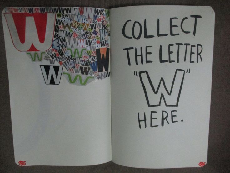 """Collect the Letter """"W"""" page - not finished"""