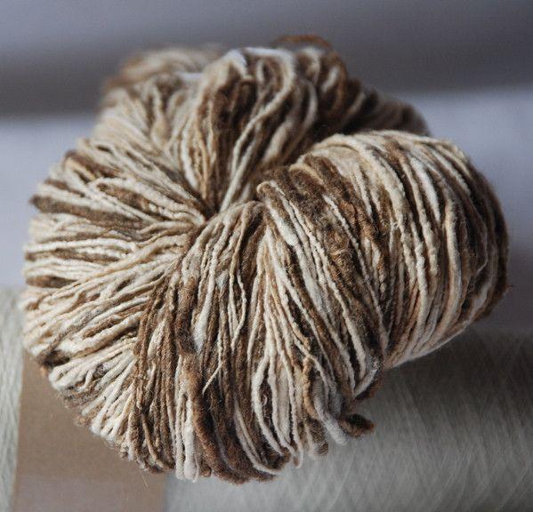 Eri/Tassar Handspun Silk 4 ply http://ecoyarns.com.au