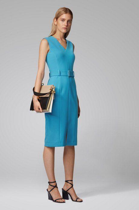 midi length dress in stretch double faced fabric dadorina 545 00