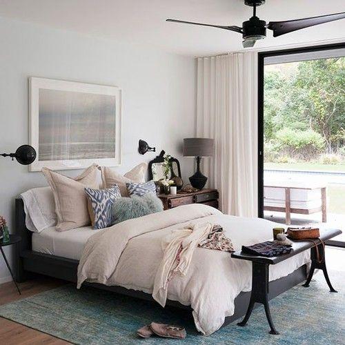 Dark Wood Gray Ivory Bedroom    Boho Bohemian Gypsy Hippie Vintage Interior  Design Home Decor
