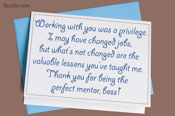 Writing a Thank You Note to Your Boss | Goodbye quotes for coworkers, Thank  you quotes for coworkers, Farewell quotes for coworker