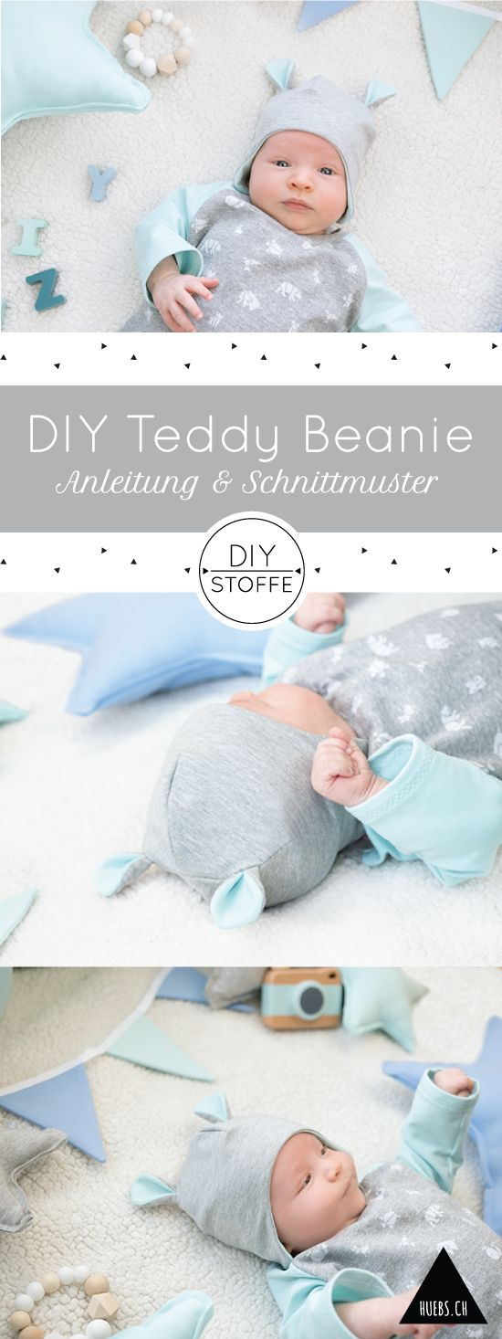 DIY Teddy Beanie/ Mütze nähen - auch für Nähanfänger sehr geeignet - Anleitung & Schnittmuster bei diy-stoffe.de
