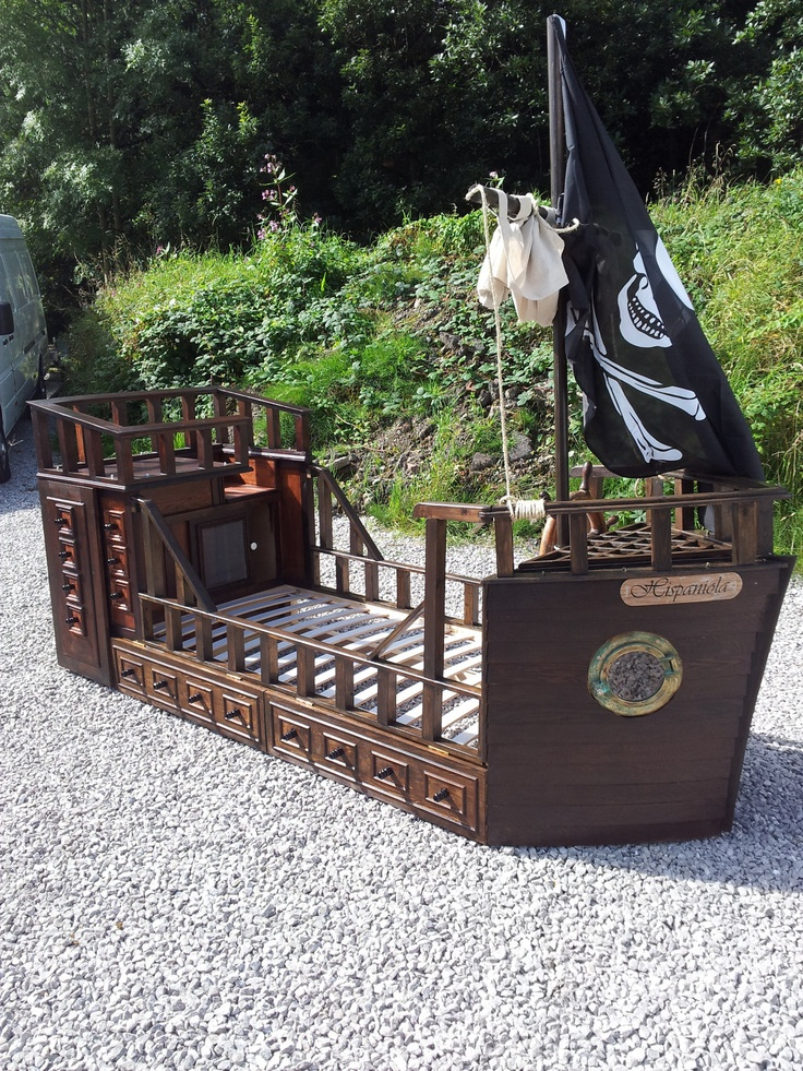 New Handmade Quality Pirate Ship Adventure Bed. $2,200.00, via Etsy.