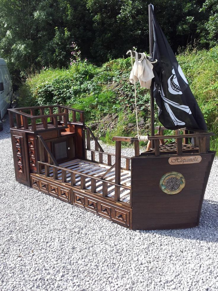 New Handmade Quality Pirate Ship Adventure Bed. $2,200.00, via Etsy.
