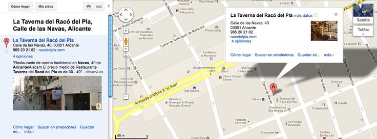 Estamos en el centro de Alicante, en la Calle Navas, 40. En Google Maps nos encontrarás fácilmente ;)
