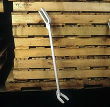 Pallet Repair Tools and Equipment: This pry bar demonstrates both the duck bill end as well as the double fork. Each has a separate application.