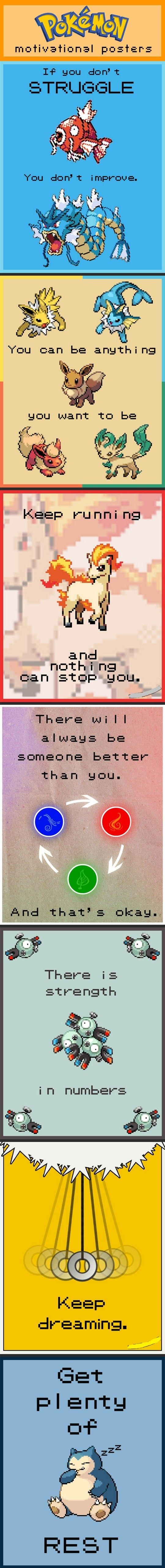 Motivational Pokémon Posters… - One Stop Humor: Funny Pictures and Videos!
