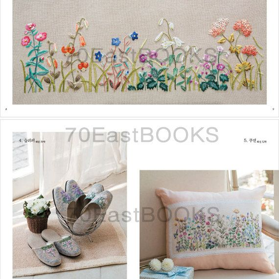 Language : Korean Paperback : 116 pages Published : May, 2014 Condition : Brand New Size : 220*285*13mm  ★Wildflowers France Embroidery Book Japanese