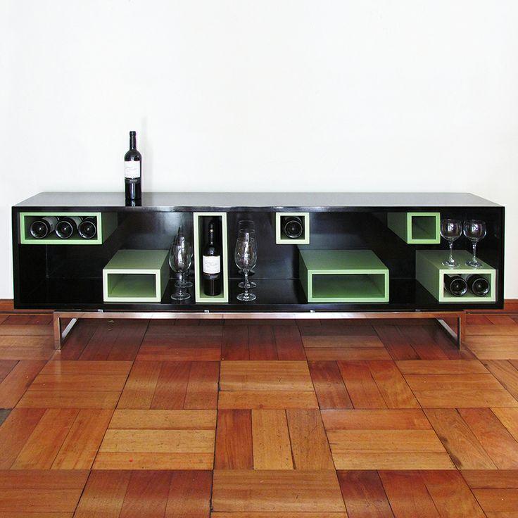 Cava N Y Moderno Mueble Para Exhibir Botellas Y Copas